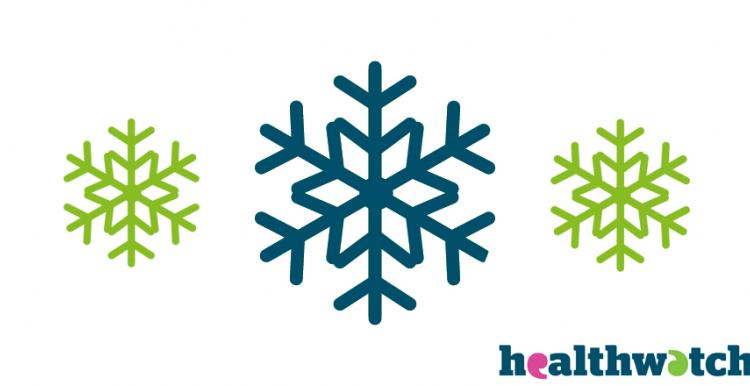 Three Snowflakes and the Healthwatch logo