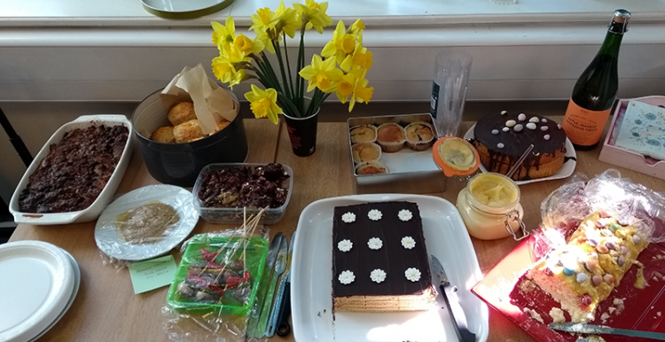 photo of cakes from our office bake off