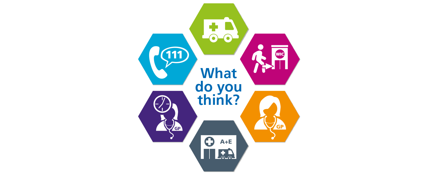 image of Liverpool CCG urgent care consultation logo saying 'what do you think?'