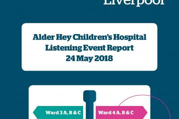 Front cover of Alder Hey report