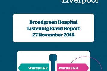 Front Cover of the Broadgreen Hospital Report