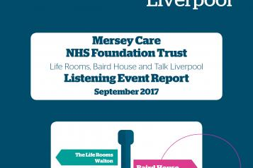 Image of the front cover of Mersey Care report