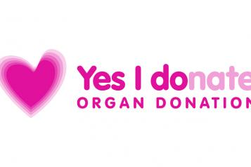 Image of Organ donation promotion logo - 'yes I donate'