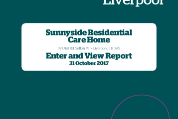 Image of front cover of Sunnyside Care Home Enter and View Report