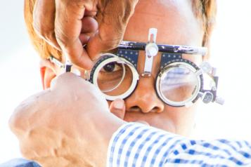 Image of a woman having an eye test