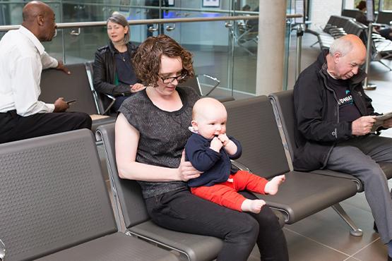 image of people sat in GP waiting room