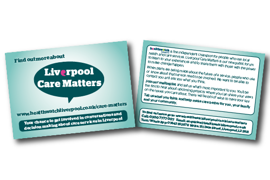image of Liverpool Care Matters card