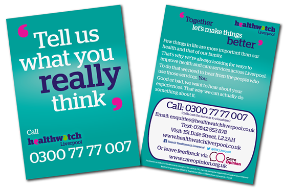 Image of Tell us what you really think card