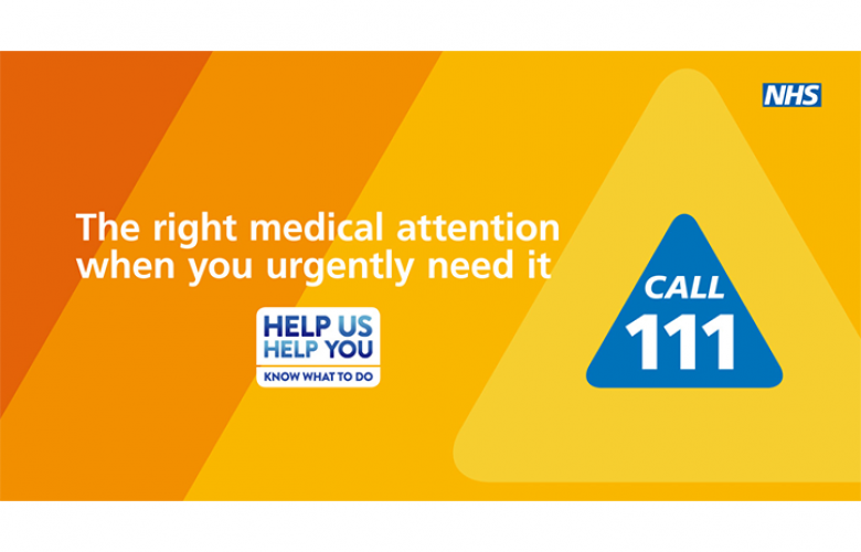 The right medical attention when you urgently need it Call 111 banner