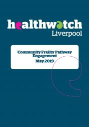 Image of front cover of community frailty pathway engagement report