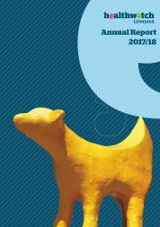 Image of front cover of 2017-18 annual report