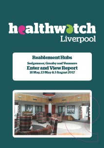 Image of front cover of Reablement Hubs Enter and View Report