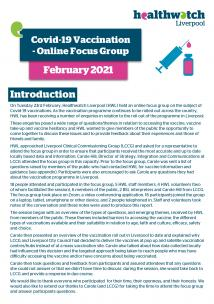 image of front cover of Vaccination focus group report