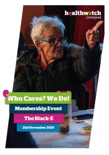Image of front cover of the 'Who Cares? We Do!' Members' event report