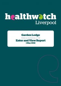 image of front cover of Garden Lodge Enter and View Report